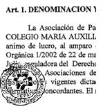 Estatutos da ANPA de Mª Auxiliadora