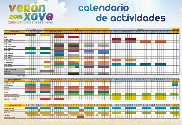 VERAN XOVE 2015 calendario